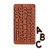 Amos Flexible Silicon Ice Cake,Chocolate Making Soap Butter Decoration Jelly Tray Bakeware for Kids-Multiple Cavities (2, Alphabet) Multi Color