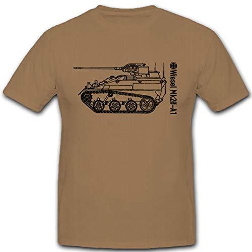 Wiesel Mk20 A1 Bundeswehr Kettenfahrzeug Waffenträger BW Heer - T Shirt #7973, Größe:XXL, Farbe:Sand
