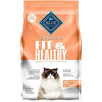 Blue Buffalo True Solutions Fit & Healthy Natural Weight Control Adult Dry Cat Food Chicken 3.5-lb