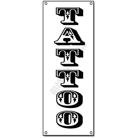 Details about  /Tattoo Banner Business Advertising Stores Full Print Vinyl Sign 3/' x 8/'