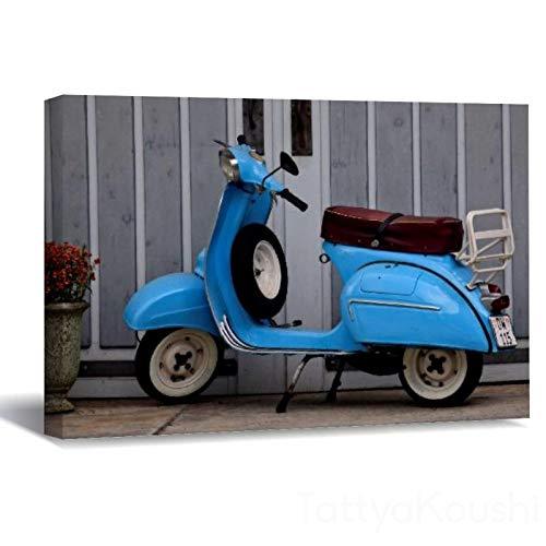 Lienzo impreso para pared, diseño de Euro Motor Scooter para sala de estar, dormitorio, 30 x 45 cm, póster decorativo para pared