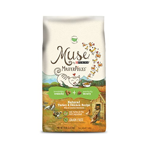 Muse by Purina Grain Free, Natural Dry Cat Food, MasterPieces Turkey & Chicken Recipe - 8 lb. Bag