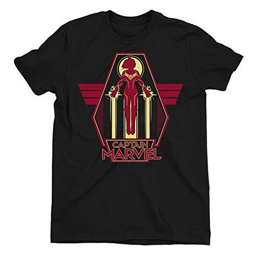 Captain Marvel Flying Warrior Children's Unisex Black T-Shirt 8-9 Years