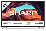 Sharp Aquos 43BL6E - 43' Smart TV 4K Ultra HD Android 9.0, Wi-Fi, DVB-T2/S2, 3840 x 2160 Pixels, Nero, suono Harman Kardon, 4xHDMI 3xUSB, 2020 [Classe di efficienza energetica A]