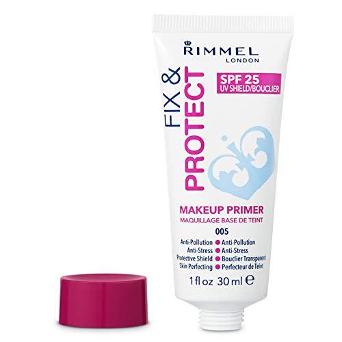 Rimmel - Primer Viso Fix&Protect - Base Trucco Perfezionante e Protettiva con SPF 25 - Trasparente - 30 ml