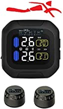 """SYKIK Rider SRTP300 Wireless tire Pressure Monitoring System for Motorcycles with 1.5"""" Monitor. Check Your tire Pressure While Riding"""
