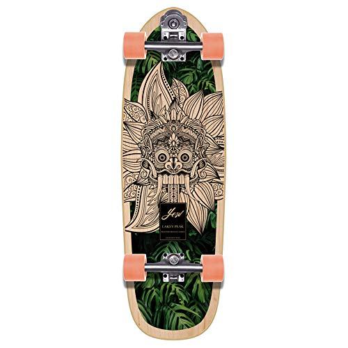 YOW Lakey Peak 32 Zoll High Performance Series Surfskate Skateboard, Erwachsene, Unisex, Mehrfarbig (Mehrfarbig)
