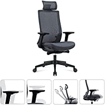 Humview Office Chairs for Heavy People, New in 2021 with 4D Adjustable armrests, 3D Lumbar Support mesh Computer Chair, Gaming Chair, Advanced Swivel Chair (Black)