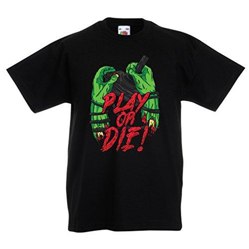 lepni.me Camiseta para Niño/Niña ¡Juegue o muera - Solamente para Jugadores !