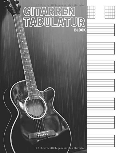 Gitarren tabulatur block: 7 Tabulator Zeilen pro Seite, 6 Gitarren Akkorddiagramme pro Seite. Ideal für musiker, gitarristen oder musiklehrer.(110 ... Format A4, tab buch, gitarre tabulatur)