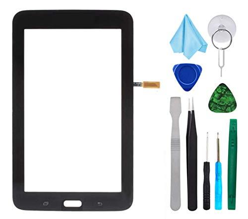 Tefir Negro Pantalla táctil de Cristal para Samsung Galaxy Tab 3 Lite SM-T113 T113 7.0'(sin LCD) con Adhesivo y Herramientas