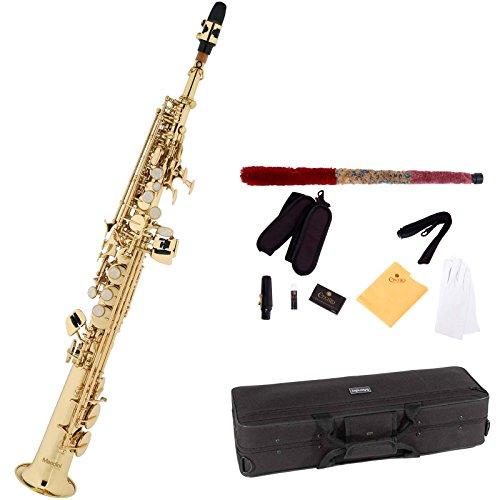 Mendini MSS-L - Saxofón soprano, color dorado