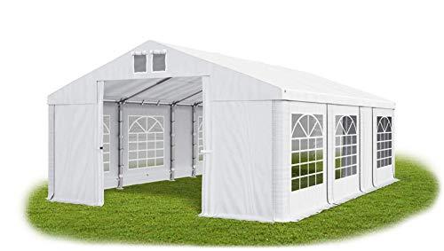 Das Company Partyzelt 5x7m wasserdicht weiß Zelt Dachplane modular 580g/m² PVC hochwertig Gartenzelt Summer MS/SD