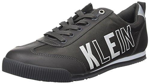 Calvin Klein Welby Smooth/Nylon, Zapatillas Hombre, Negro (Charcoal), 43 EU