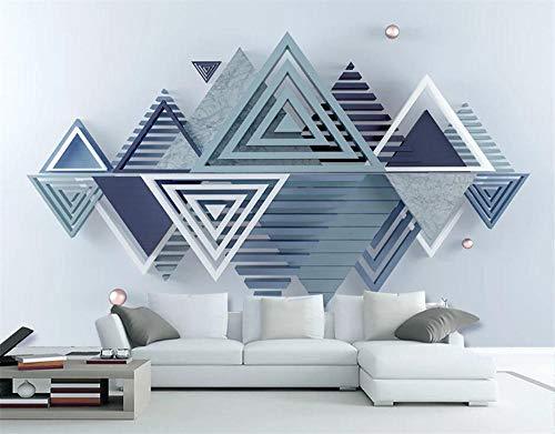 Pink world Wandbild Dreidimensionales modernes minimalistisches geometrisches Marmormosaikfernsehwand-Wandgemälde des 3D-Über 350 * 245 cm
