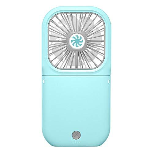 WANZPITS Ventilador De Tesoros De Carga USB, Mini Ventilador Silencioso, Ventilador De Cuello Colgante Portátil, Ventilador De Escritorio Plegable, Ventilador De Mano Ventilador De Mesa Pequeña,Azul