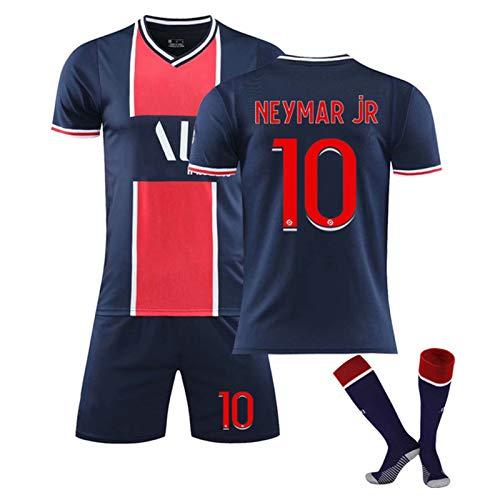 Fußball Trikot für Kinder und Erwachsene Herren Jersey, Neymar 10 Mbappé 7 Fan Fußballtrikots,Geeignet für die Saison 20-21 Fußballtrainingsanzüge,Fußballshorts T-Shirt Football Socken…