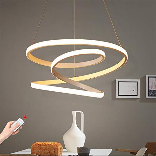 Lámpara colgante LED Mesa de comedor moderna Lámpara colgante 85W Regulable con el control remoto Lámpara colgante de acrílico y metal Lámpara de techo Ajustable en altura Comedor Cocina Luz de sala