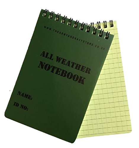 A6 Waterproof All Weather Notepad Olive Green Military