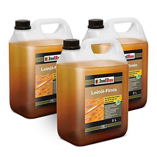 15 litros de aceite de linaza para proteger la madera, doble cocción, natural, aceite de linaza para madera, barniz sin resina