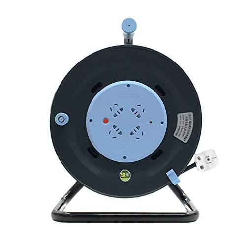 ZBM - ZBM standaard elektrische kabelhaspel, 4-way-stopcontact Reel (3 x 1,5 m²/50 m lengte, 250 V 10 A, ergonomische handgreep), professionele elektrische uitbreiding met mobiel powerblok blokkeren - 3*1.5mm²/50M