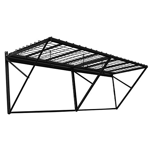 Proslat 60008 ProRack Heavy Duty Wall Mount Metal Storage Shelf with 8' Section, Charcoal Granite