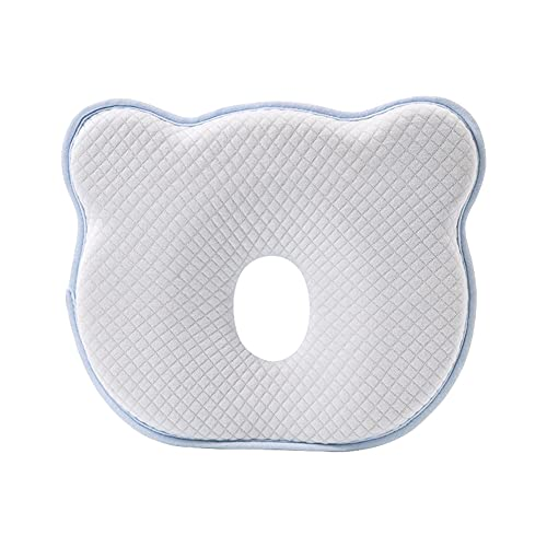 muskmelon Almohada para Bebes Recien Nacidos Cojín para Bebé para Prevención de Plagiocefalia Soporte Para el Cuello para Utilizar en Cama Cochecito Mecedora (BU)