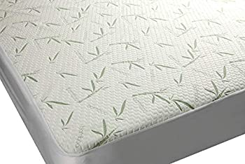 Bamboo Premium Plush Mattress Cover - Soft Quiet Comfortable Topper Protector - Deep Fitted Pocket  Full Size