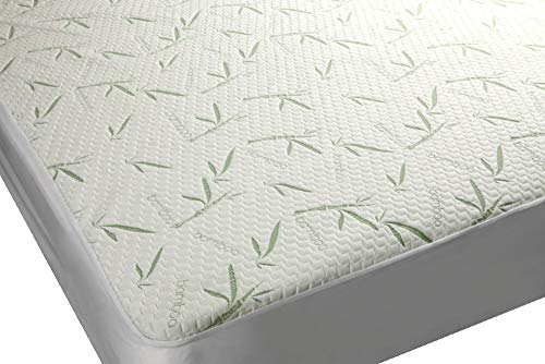 Mezzati Bamboo Premium Plush Mattress Cover - Soft, Quiet, Comfortable Topper, Protector - Hypoallergenic, Deep Fitted Pocket (Full Size)