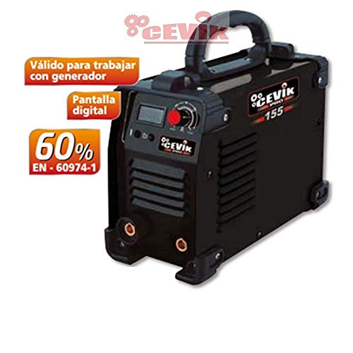 Cevik CE-PRO155 - Equipo de Soldadura 120 A. 60_% Electrodos