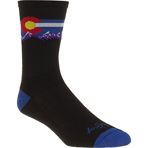 Sockguy Crew Calze Tecniche, Unisex, Crew, Wool Colorado Mountain, Small/Medium/6-Inch