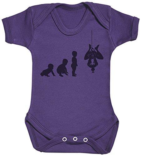 Baby Evolution to A Spider Man Body bébé - Gilet bébé - Body bébé Ensemble-Cadeau - Naissance Violet