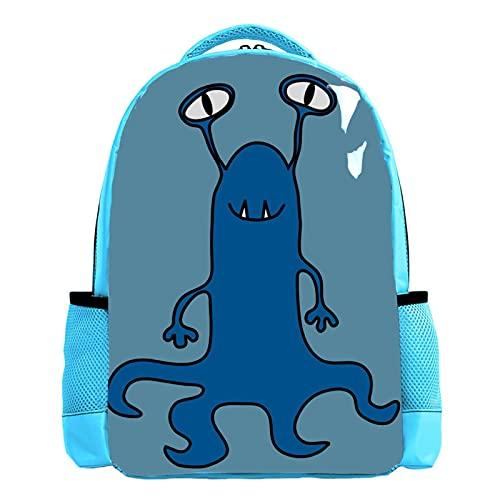 Mochila azul de la escuela del muchacho de la mochila de los libros de los hombres del bolso del viaje Daypack lindo dibujos animados