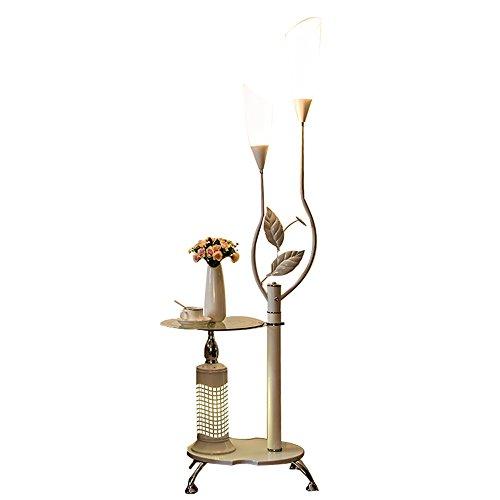 Salon lampadaire chambre lampe de chevet canapé table basse lumières (Couleur : Blanc)