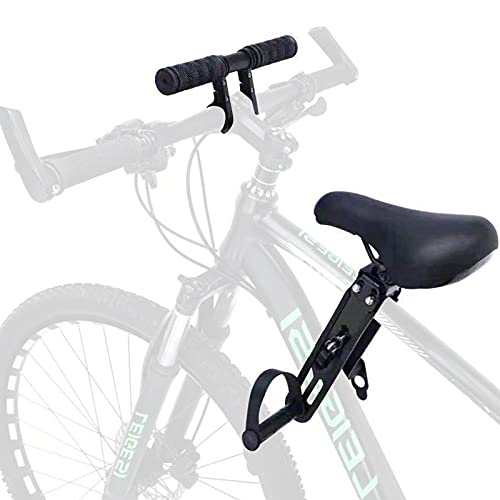 Gidenfly Front-Mount Child Bike Seat, Kids Bike Seat Front With Handlebar, Adjustable Mounted Bicycle Kids Seat For Children From 2 To 5 Years Old Compatible With All Adult MTB