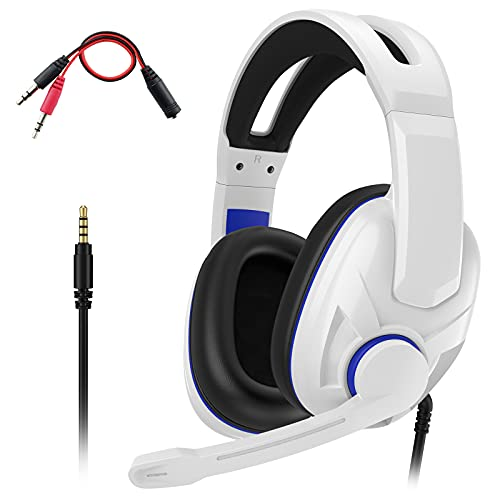 Dhaose Gaming Headset für PS4 PS5 PC Xbox One, 3.5mm Surround Sound Kabelgebundenes Gaming Kopfhörer mit Mikrofon für PS4 PS5 Xbox One PC Laptop Mac Mobile Phones