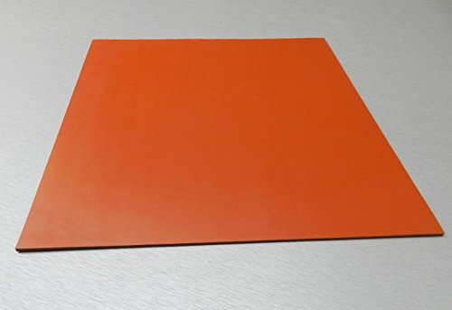 Flexible Heat Resistant Silicone Rubber Sheeting, U.S. High Temp Red 1/8' x 8' x 8' Square