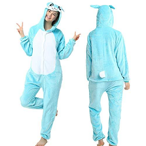 Pijama Entero Mujer con Pijamas De Animales Onesie Todo En Uno Teal Conejo