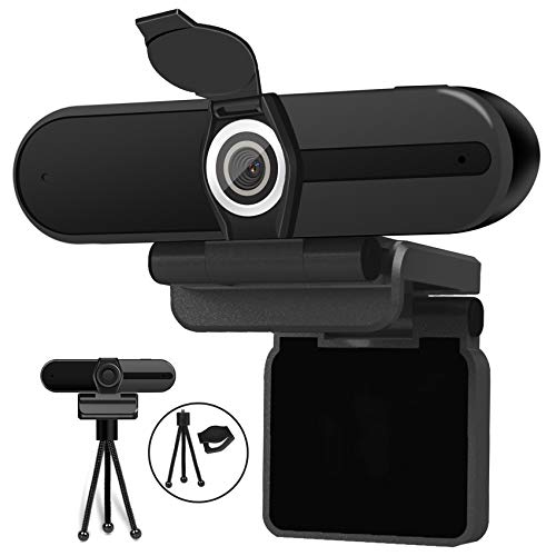 4K Webcam, Webcam 8MP HD Computer Camera with Microphone, Pro Streaming Web Camera with Privacy...