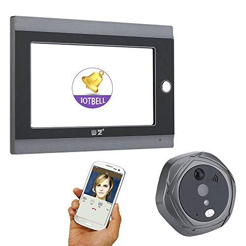 7 inch WiFi Video Doorbell, Digital Peephole Door Front Wireless Peephole Camera with Intercom Take Picture