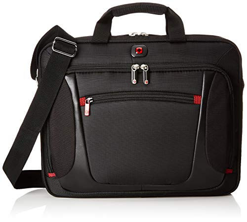 Wenger 600643 SENSOR 15 Inch Laptop Briefcase, Padded Laptop Compartment with iPad/Tablet/eReader Pocket in Black {9 Litre}