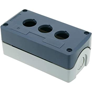 BeMatik - Caja de control de dispositivos eléctricos para 4 pulsadores o interruptores de 22 mm gris: Amazon.es: Electrónica