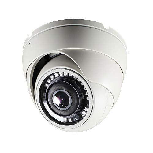 CCTV Camera Pros HD-D180 180 Degree Dome Security Camera | Full HD Over Coax | HD-TVI AHD HDCVI CCTV 1080p | 2MP Wide Angle Indoor Outdoor Home Surveillance Camera