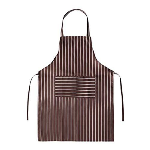 Pinhan vertikale Streifen gedruckt Schürze Küche Latzschürze verstellbare Hüftgurt Taschen für Küche Köche Restaurant Bistro BBQ, Kaffee Streifen