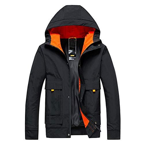 SHANGYI dames heren bomberjas dunne dunne lange mouwen patchwork hoodie rits jas met capuchon windjas ritssluiting jas