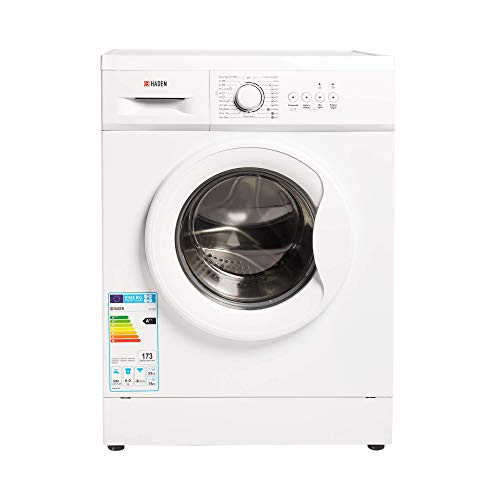 Haden HW1207 Washing Machine – Freestanding Multifunction Front Loading Washer, 1200rpm Spin, 7kg Load, White - CF35