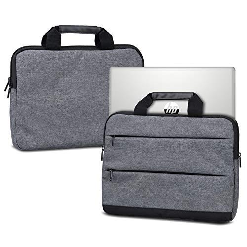 NAUC Hülle kompatibel für HP ProBook 450 G6 Schutzhülle Sleeve Laptop Tasche Tragetasche mit Griffen & Zubehörtaschen Case 15.6 Zoll Cover, Farbe:Dunkelgrau