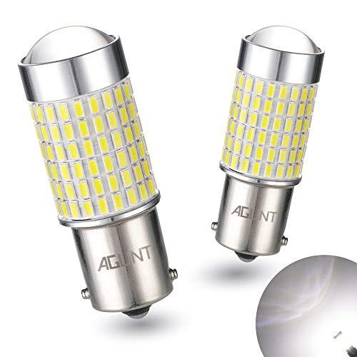 AGLINT P21W LED Bombilla 144SMD 12V 24V 1156 BA15S para RV Luces Interiores Automóvil Luces Traseras Marcha Atrás Luz de Señal de Giro Luz Diurnas Luces 6000K Blanco 2 Piezas
