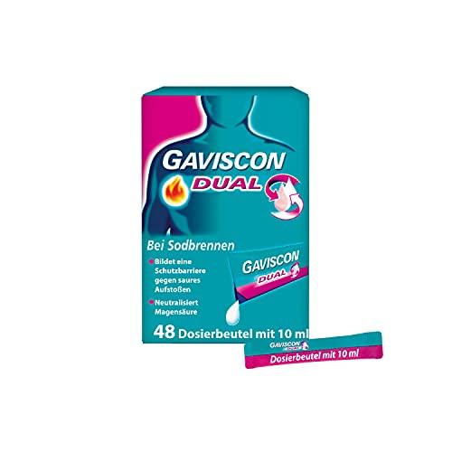 GAVSICON Dual Suspension bei Sodbrennen, 48 St. Beutel