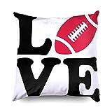 LinUpdate-Store Football taies d'oreiller, Jeter taies d'oreiller Football américain Vecteur Ballon de Rugby Silhouette équipement de compétition